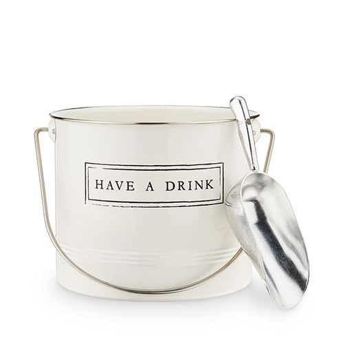 """""""Have A Drink"""" Ice Bucket and Scoop by Twine®"""