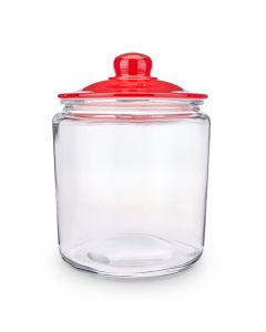 1 Gallon (3.8 L) Red lid glass jar
