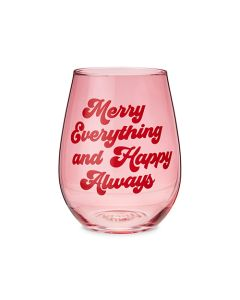 Merry Everything Stemless Wine Glass by Blush®