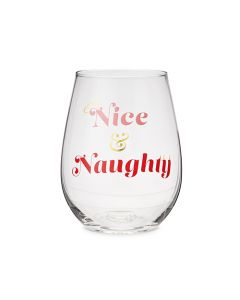 Nice And Naughty Stemless Wine Glass by Blush®