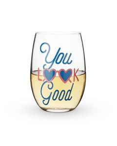 You Look Good Stemless Wine Glass by Blush®