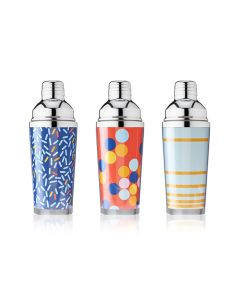 16 oz Assorted Pattern Cocktail Shakers by True