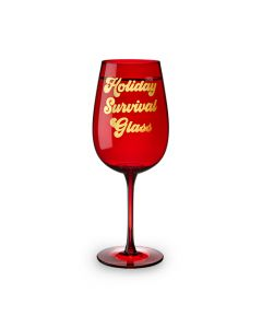 Holiday Survival Glass Full Bottle Wine Glass by Blush®