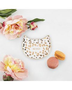 White Leopard Tea Tray by Pinky Up®