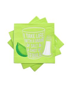 9857: I Take Life With A Grain of Salt Cocktail Napkin by Ca